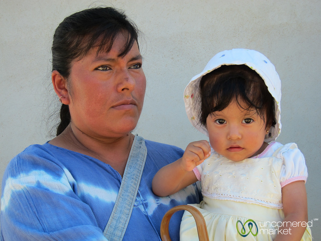Mexican Mother and Daughter in San Martin Tilcajete, Mexico