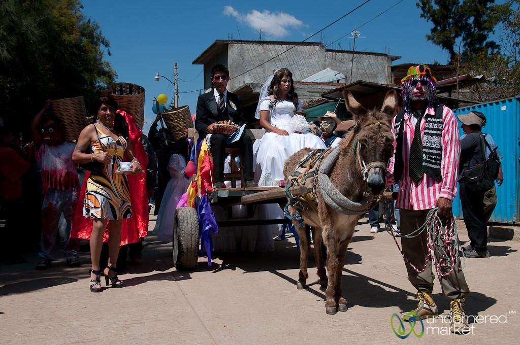 Bride, Groom, Donkey, Mardi Gras - San Martin Tilcajete, Mexico