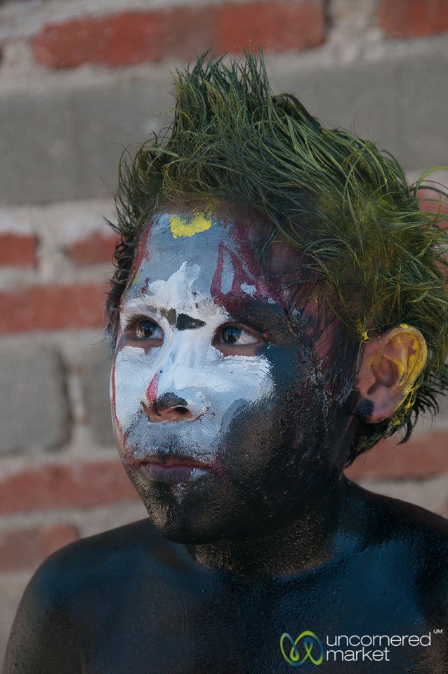 Painted Face for Carnaval - San Martin Tilcajete, Mexico