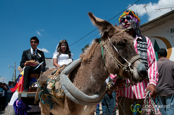Transvestite Wedding and Donkey for Mardi Gras - San Martin Tilcajete, Mexico