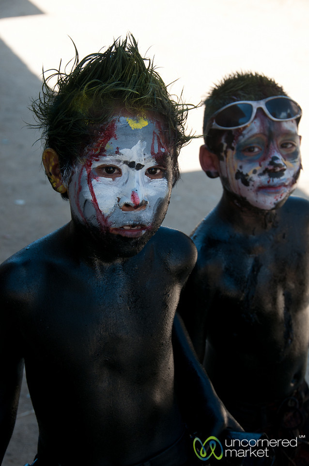 Boys Dressed in Paint for Carnaval - San Martin Tilcajete, Mexico