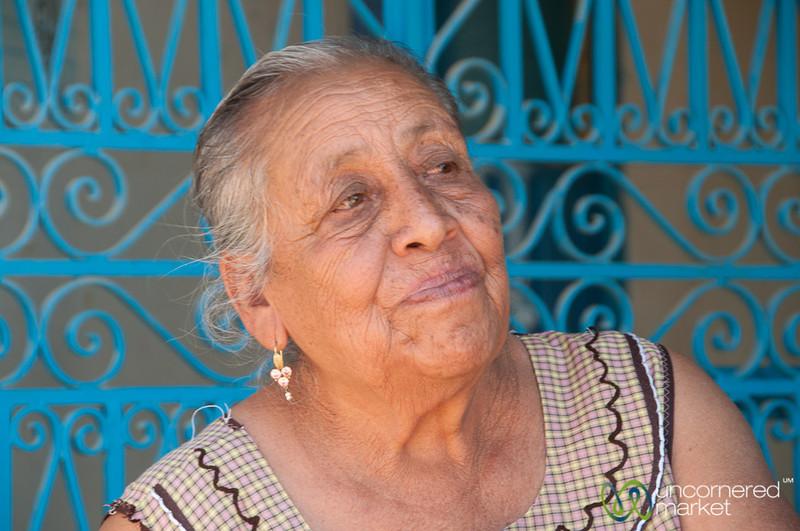 Curious Mexican Grandmother - San Martin Tilcajete, Mexico
