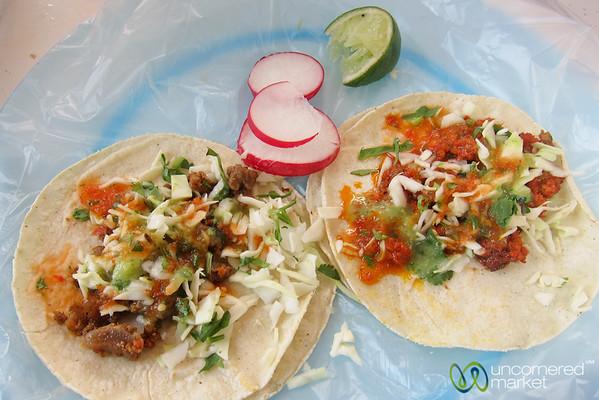 Street Food Tacos in San Cristobal de las Casas, Mexico