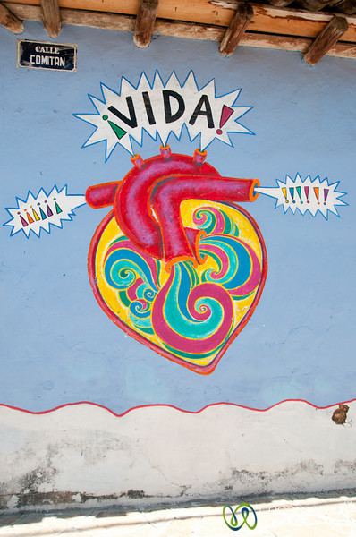 Graffiti Heart in San Cristobal de las Casas, Mexico