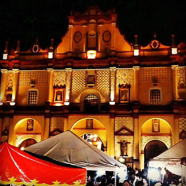 San Cristobal Cathedral, Semana Santa fair #Chiapas #Mexico