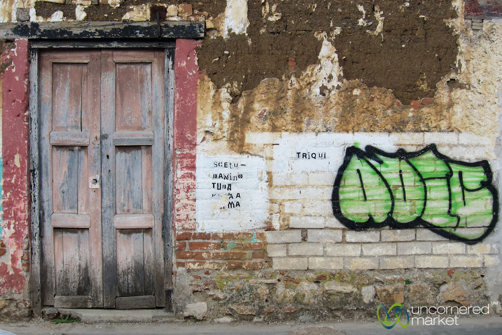 Doorway and Graffiti - San Cristobal de las Casas, Mexico