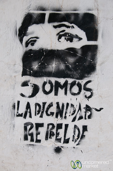 Dignity of Rebels, Street Art in Chiapas - Mexico