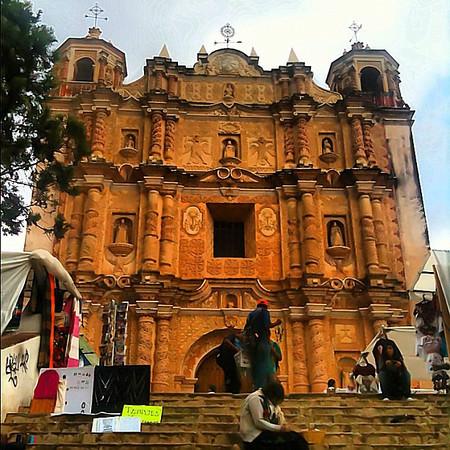 At the foot of Santo Domingo church - San Cristobal #Chiapas #Mexico