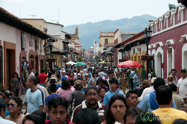 Semana Santa, Streets Full of People - San Cristobal de las Casas, Mexico