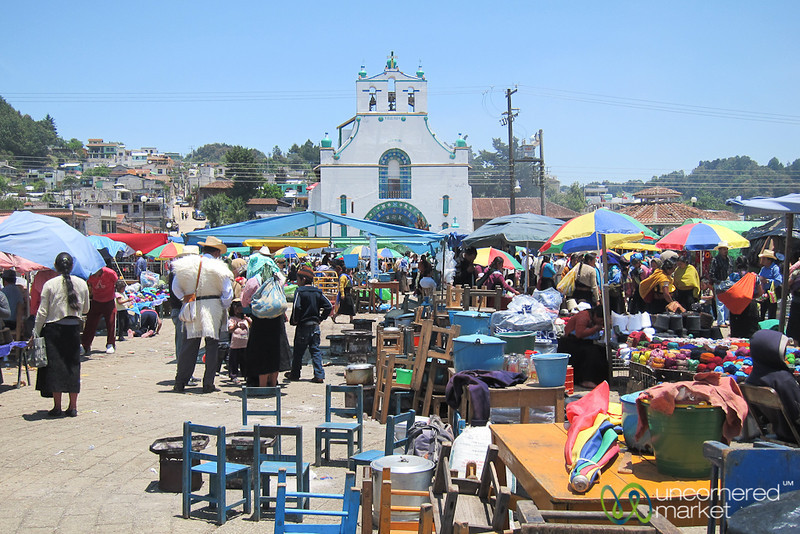Sunday Market Day in San Juan Chamula - Chiapas, Mexico