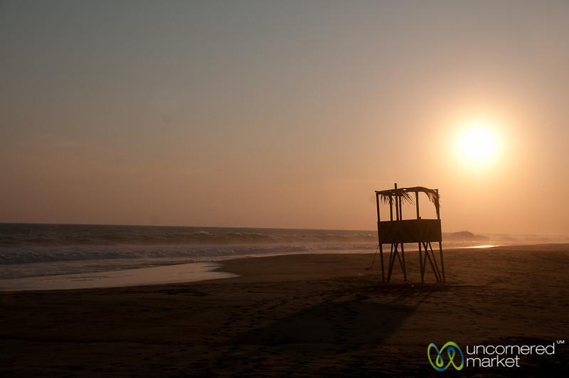 Playa La Ventanilla at Sunset - Mazunte, Mexico