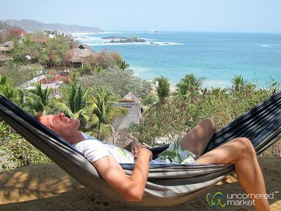 Dan in Vacation Mode - Mazunte Beach, Mexico