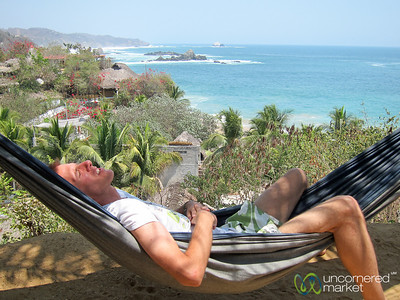 Dan in Vacation Mode - Mazunte Beach, Mexico