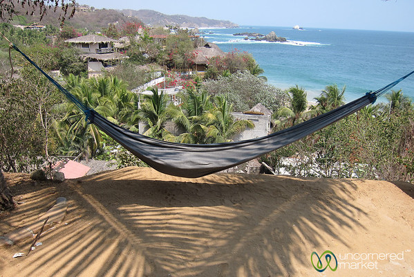 View from our Cabana - Mazunte Beach, Mexico