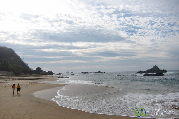 Early Morning Walk Along Mazunte Beach - Mexico
