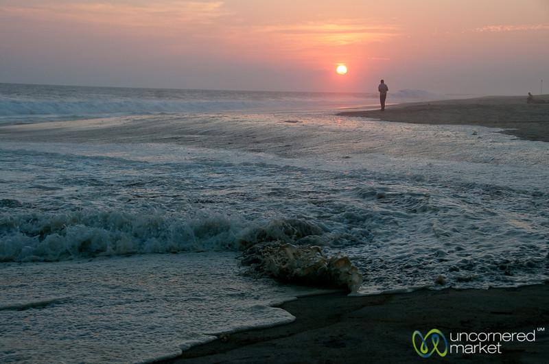 Sunset Walk at La Ventanilla Beach - Mazunte, Mexico