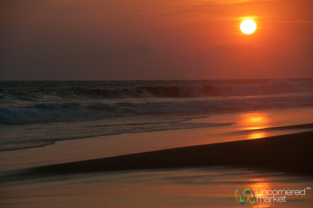 La Ventanilla Beach at Sunset - Mazunte, Mexico