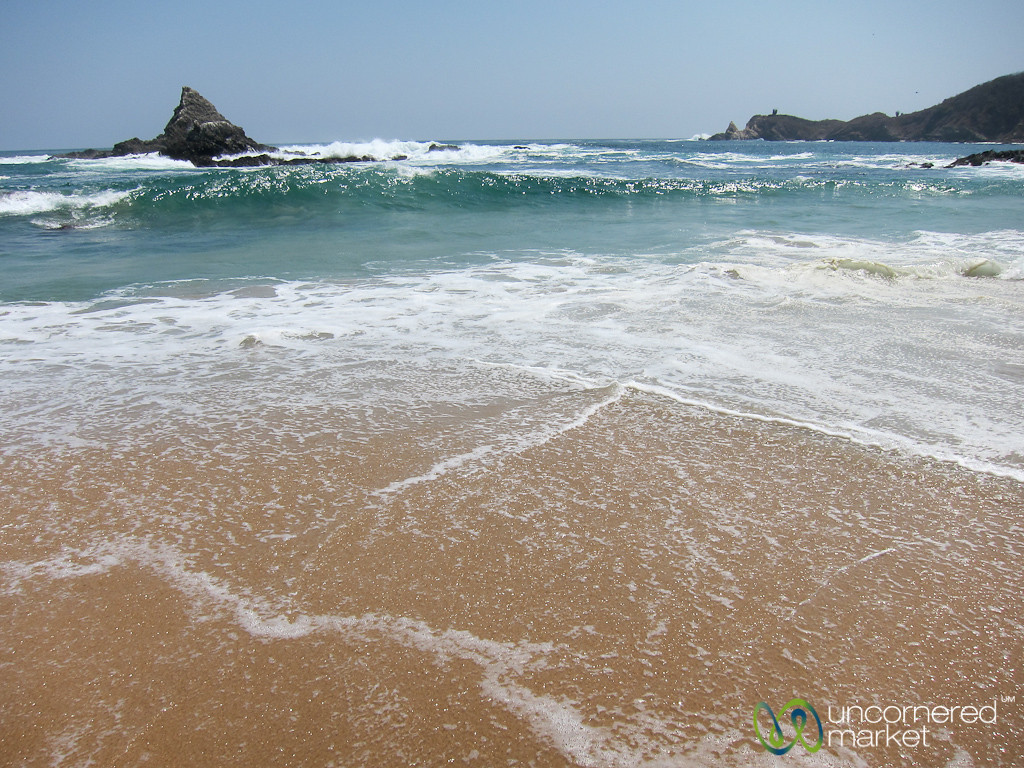 Waves and High Tide - Mazunte Beach, Mexico