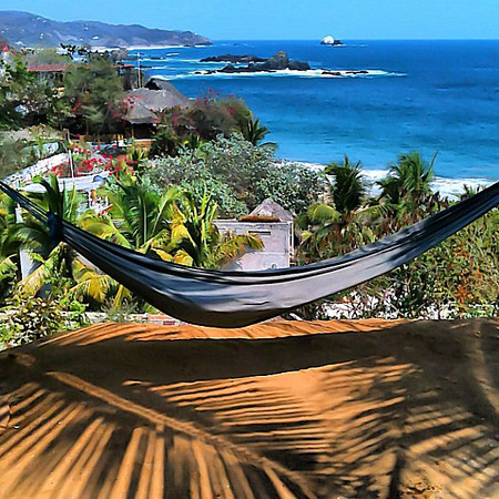 The Uncornered Market office for the next few days #lifesabeach #Mazunte #Mexico