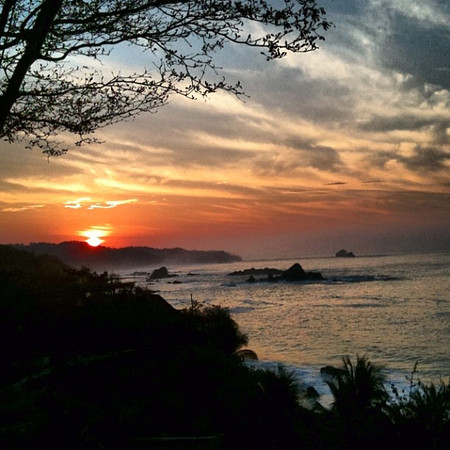 Sunrise #Mazunte - reward for waking up early for the boat ride