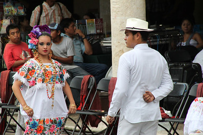 Dancers in the Plaza - Merida, Mexico
