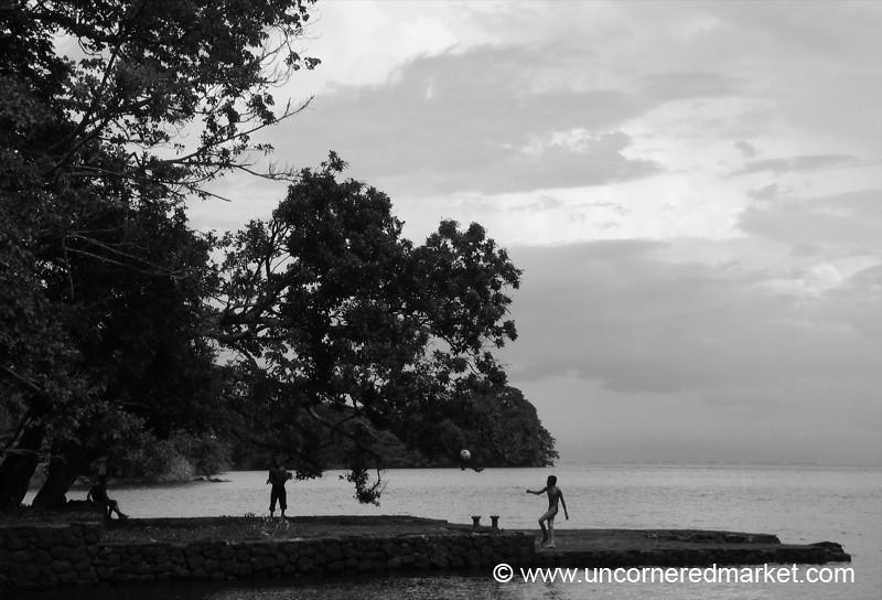 Late Afternoon Football - Isla de Ometepe, Nicaragua