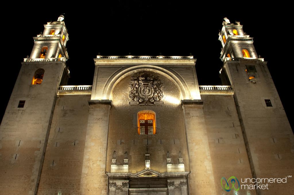 Merida Cathedral on Plaza Grande - Yucatan, Mexico