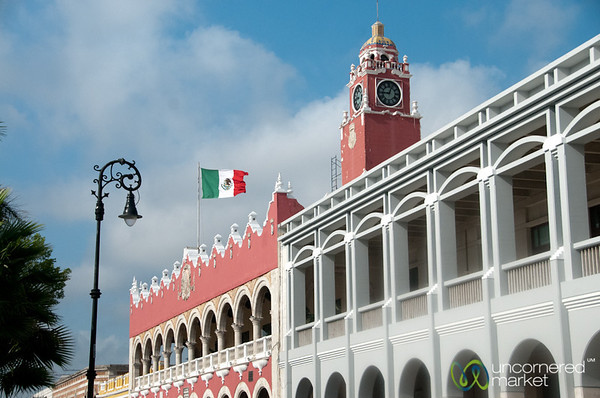Ayuntamiento on Merida's Plaza Grande - Yucatan, Mexico