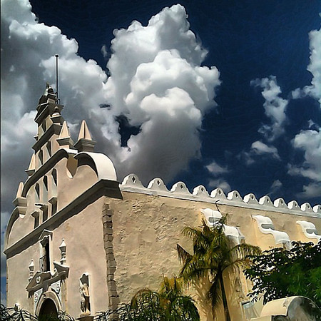Santiago church #skyporn, #Merida #Yucatan #Mexico