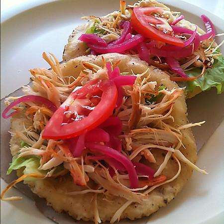 And today's Yucatecan lunch, salbutes pavo #merida #yucatan #mexico #foodie #foodporn