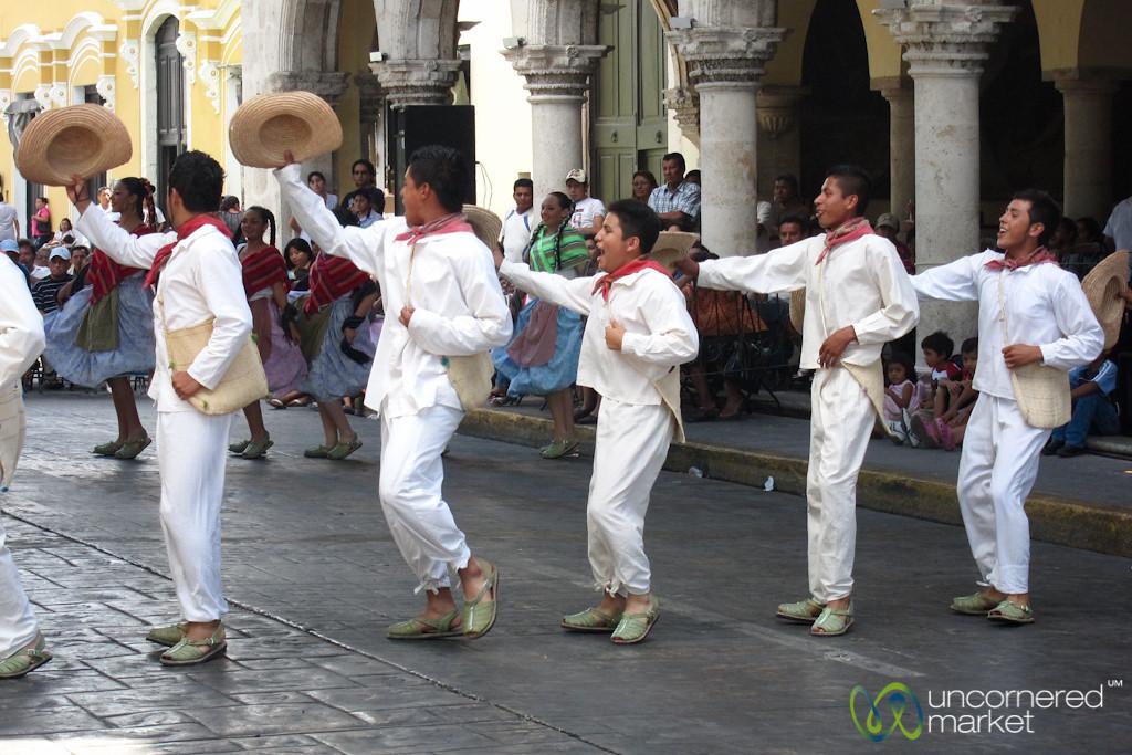 Dancers on Merida's Main Square - Yucatan, Mexico