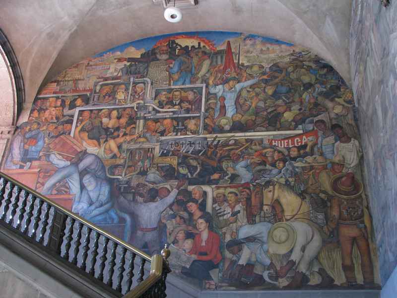 Diego Rivera mural - Mexican National Palace