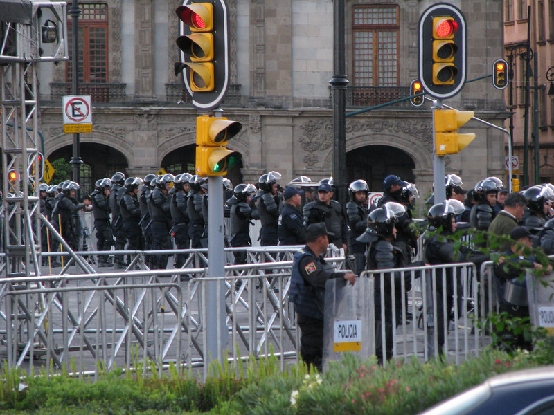 Mexico City - Riot Police at the Zocolo