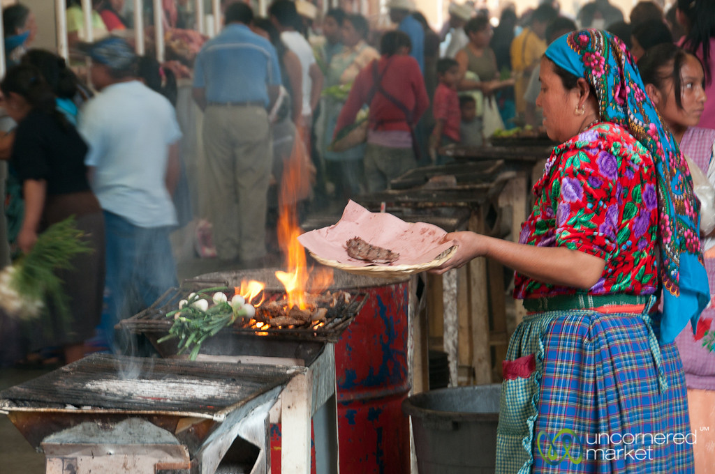 Grilled Meat at Tlacolula Sunday Market - Mexico