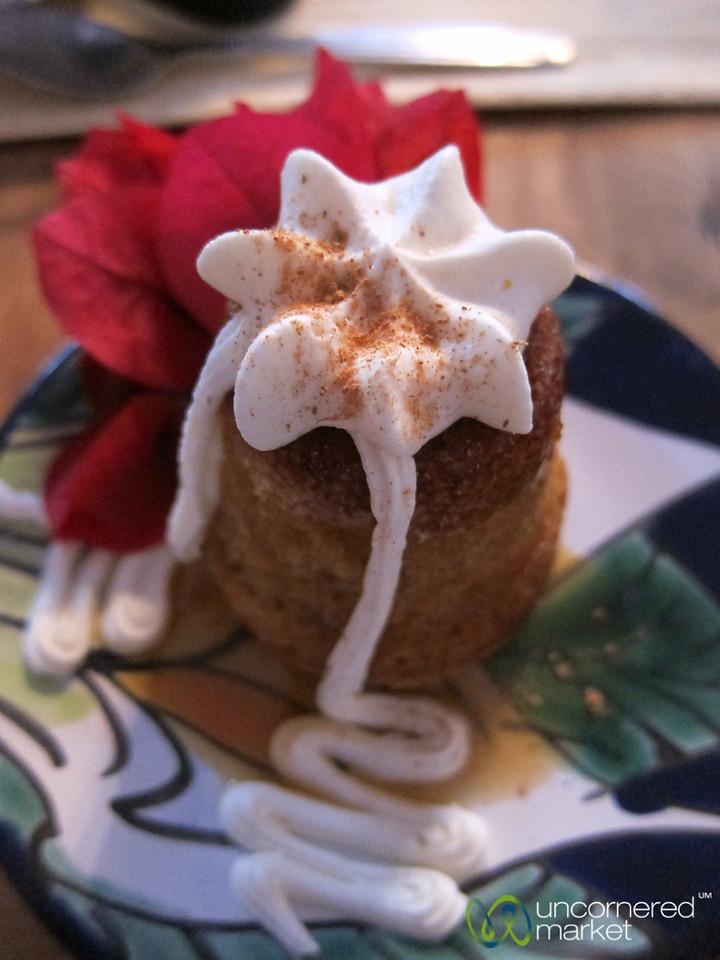Corn Cake with Whipped Cream - Oaxaca, Mexico