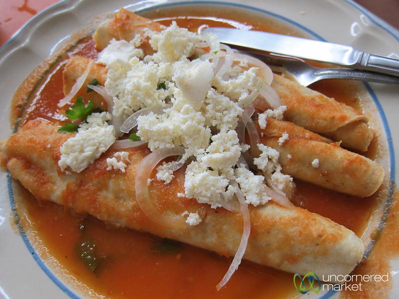 Entomatadas - Oaxaca, Mexico