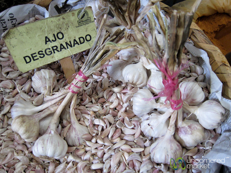Garlic at Juarez Market - Oaxaca, Mexico
