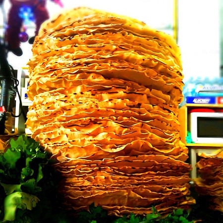 Stacked high for Sunday lunch: tortillas por tlayudas. #Oaxaca, Mexico.