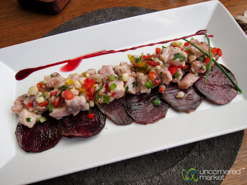 Ceviche and Purple Potatoes - Oaxaca, Mexico