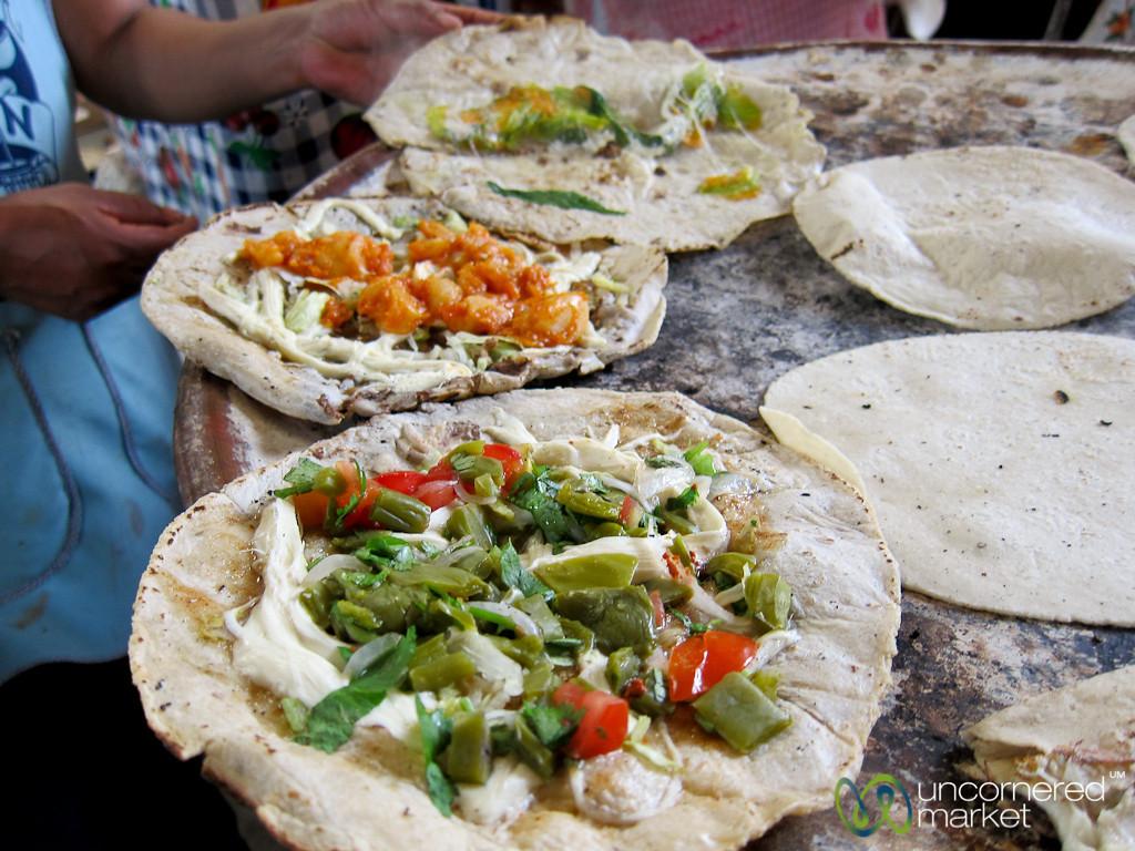 Empanadas on the Comal - Tlacolula Mexico