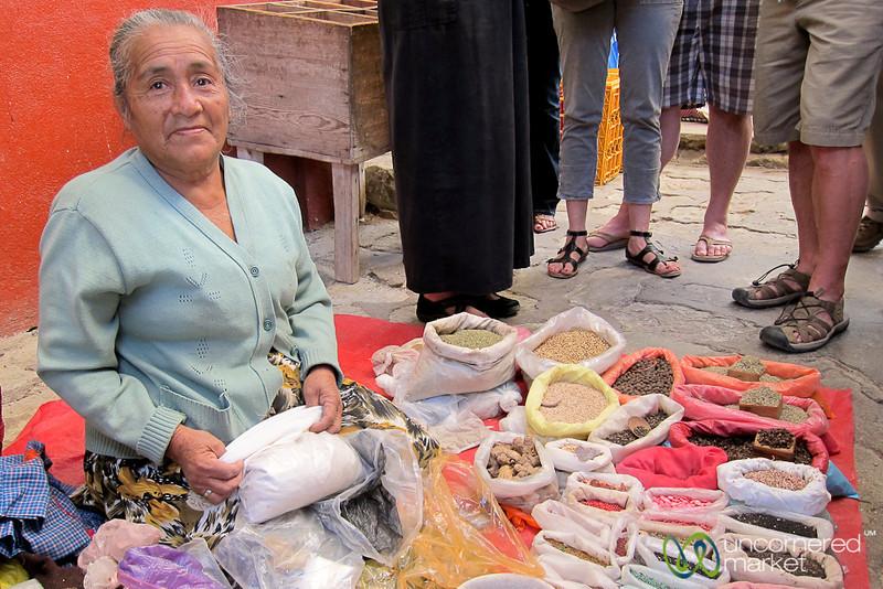 Spice Vendor at Etla Market - Oaxaca, Mexico