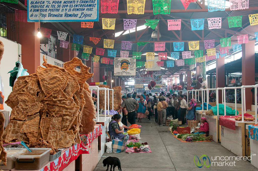 Chicharrón (Pork Rinds) at Tlacolula Market - Mexico