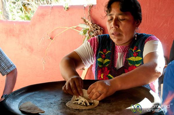 Huitlacoche (Corn Smut) Tacos - Oaxaca, Mexico