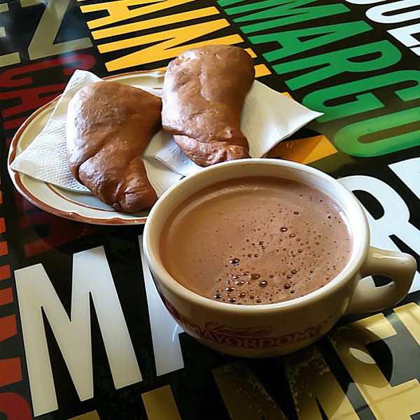 Breakfast of champions, hot chocolate amargo! #Oaxaca #Mexico