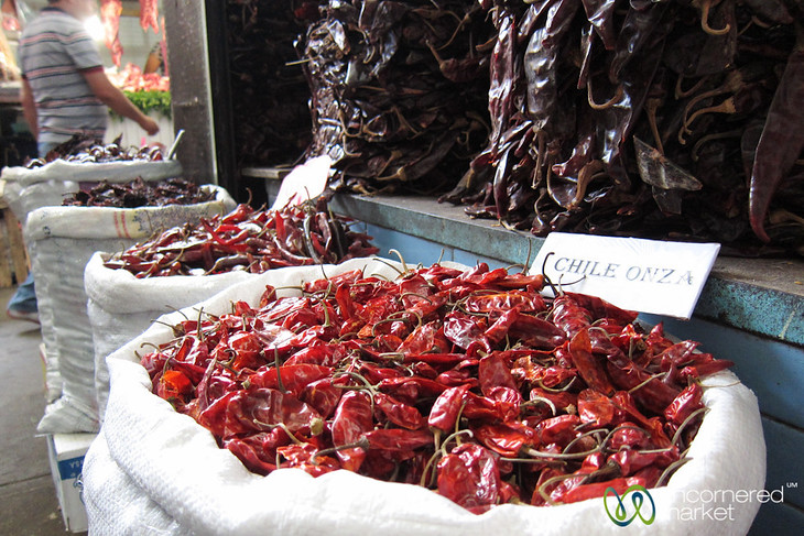 Dried Chilies at Juarez Market - Oaxaca, Mexico