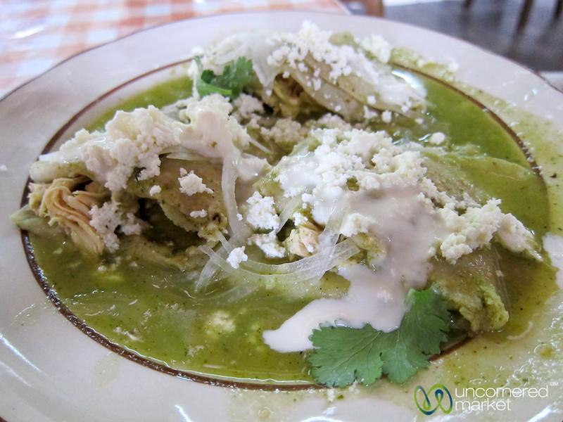 Mole Verde Enchiladas - Oaxaca, Mexico