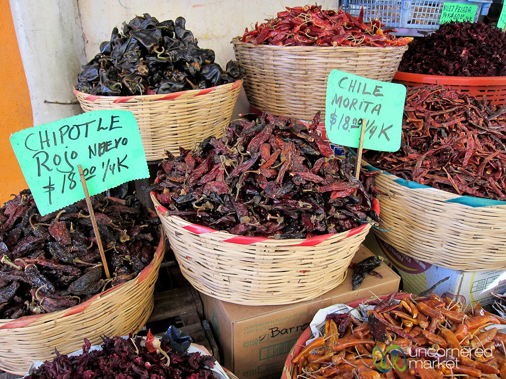Chili Peppers at Oaxaca Market - Mexico