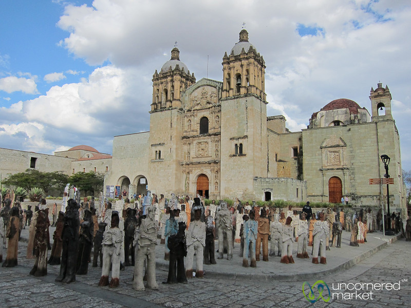 Santo Domingo Church and Statues - Oaxaca, Mexico
