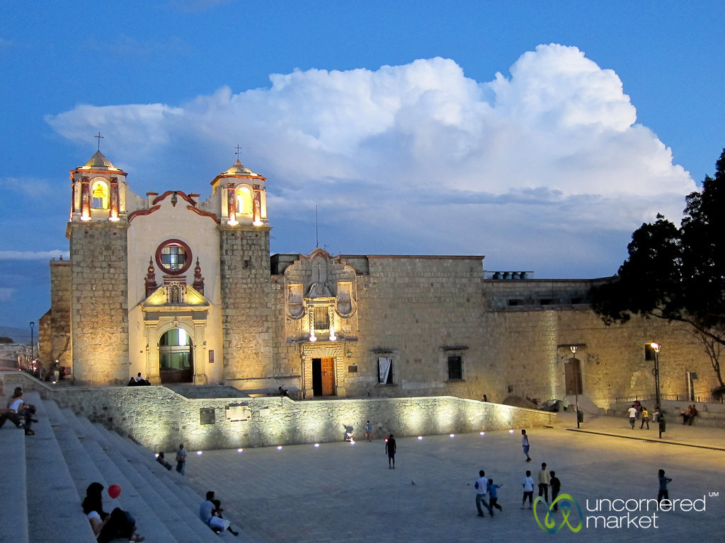 Plaza de la Danza at Night - Oaxaca, Mexico