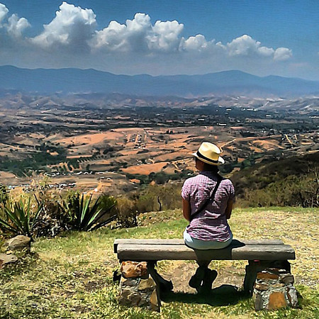 What's on Audrey's mind? - Monte Alban #Oaxaca #deepthought
